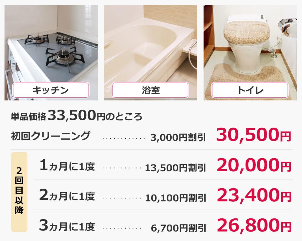キッチン+浴室+トイレ